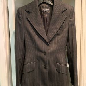 Dolce & Gabbana grey pin striped blazer. Size 44